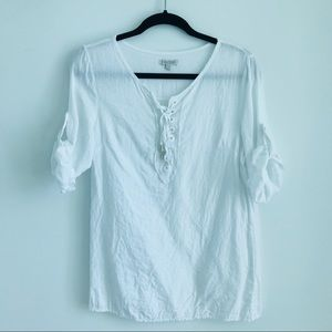26f64171c2d534 Lina Tomei white blouse